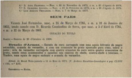 Bernardino Senna Fernandes Brasão III