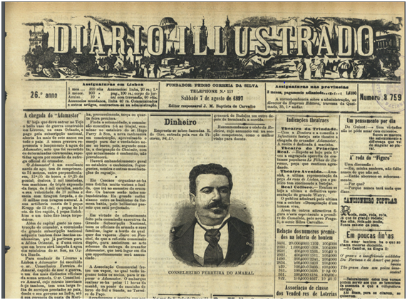 DIARIO ILLUSTRADO 7-8-1897 Adamastor I