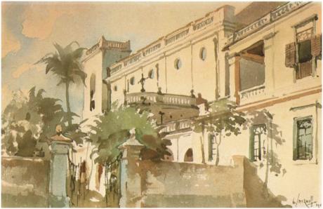 SMIRNOFF - Vista lateral Igreja S. Lourenço 1944
