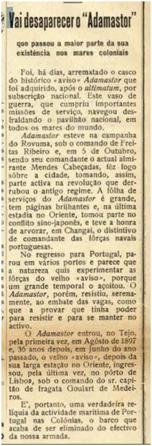 ULTRAMAR 1934 n.º 6 -adamastor I