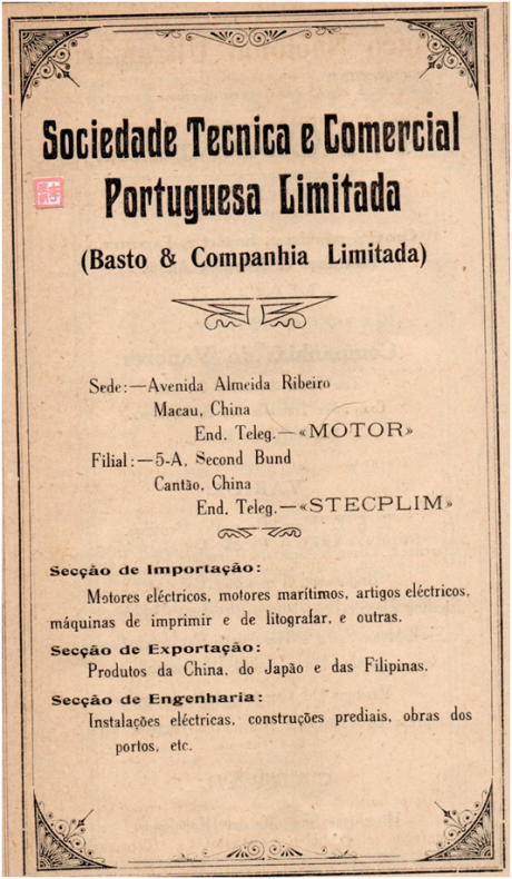 ANÚNCIO - SOCIEDADE TECNICA E COMERCIAL PORTUGUESA LIMITADA