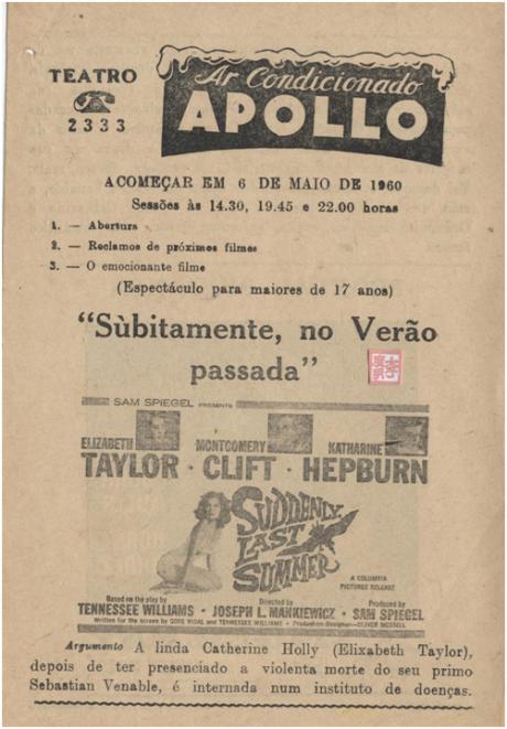 APOLLO 6MAI1960 Bruscamente Verão Passado (I)