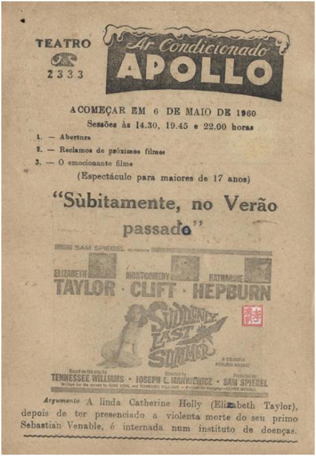 APOLLO 6MAI1960 Bruscamente Verão Passado (II)