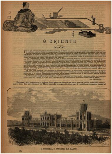BRANCO E NEGRO 1896 n.º 38 pp.182-183 MACAU de Conde de Arnoso II