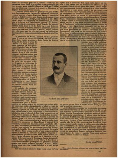 BRANCO E NEGRO 1896 n.º 38 pp.182-183 MACAU de Conde de Arnoso III