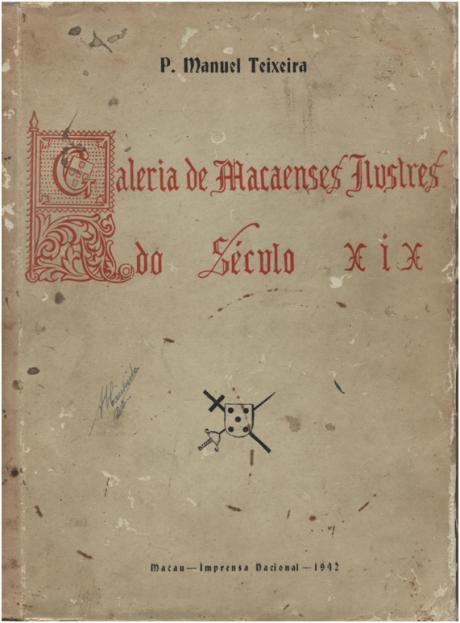 Galeria de Macenses Ilustres Séc XIX 1942 CAPA