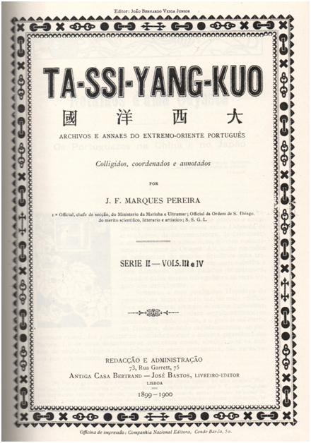 TA-SSI-YANG-KUO CAPA SÉRIE II-VOL III e IV