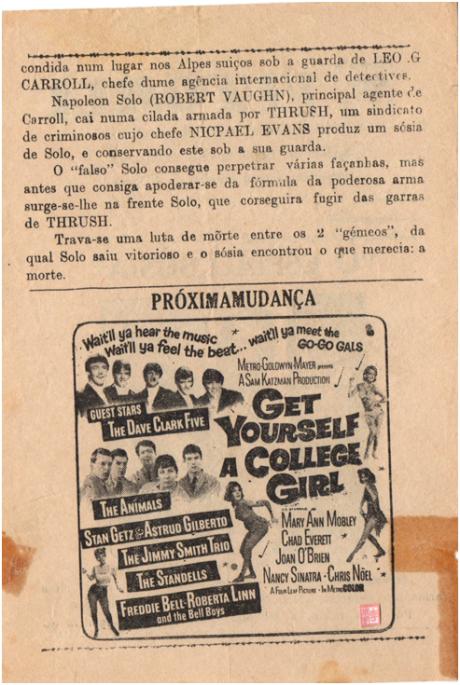 VITÓRIA - 14MAI1965 The Spy With my Face verso