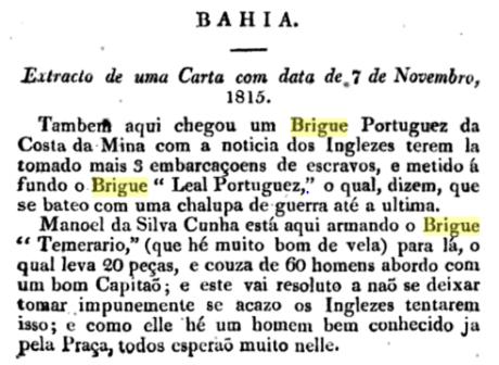 Brigue Temerário II 1815