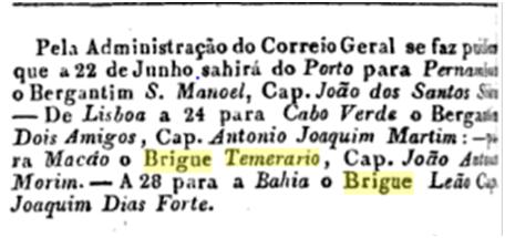 Brigue Temerário III 1821