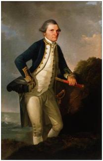JOHN WEBBER capitão Cook c. 1776