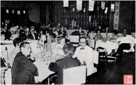 MACAU B.I.T. VIII-3-4, 1972 - 25 ANOS ROTARY CLUB - rotários e convidados