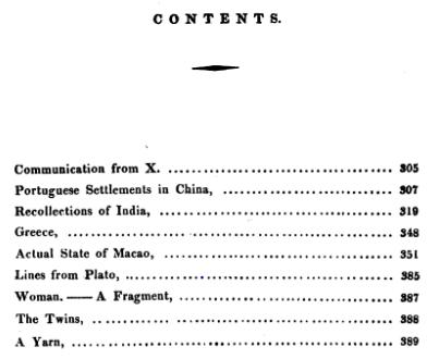 The Canton Miscellany N.º 5- sumário