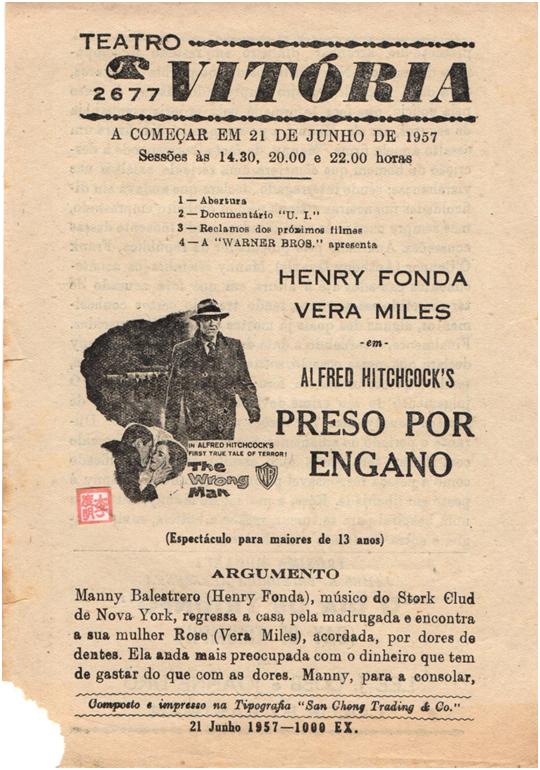 VITÓRIA - 21-06-1957 The Wrong Man