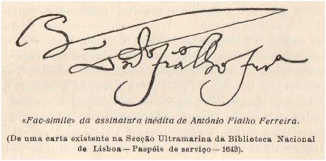 A Aclamação del Rei D. João IV em Macau assinatura de Ant. F. Ferreira