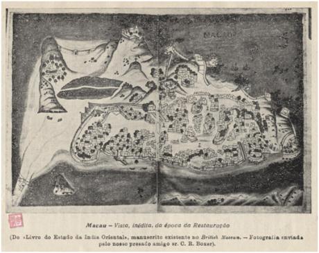 A Aclamação del Rei D. João IV em Macau MAPA época Restauração