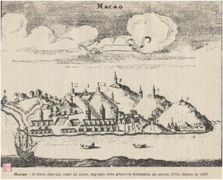A Aclamação del Rei D. João IV em Macau MAPA dps 1638