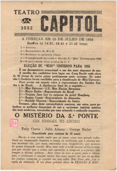 CAPITOL 22JUL1955 - O Mistério da 5.ª ponte