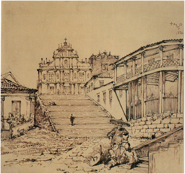 CHINNERY Igreja de S.Paulo antes do incêndio 1834