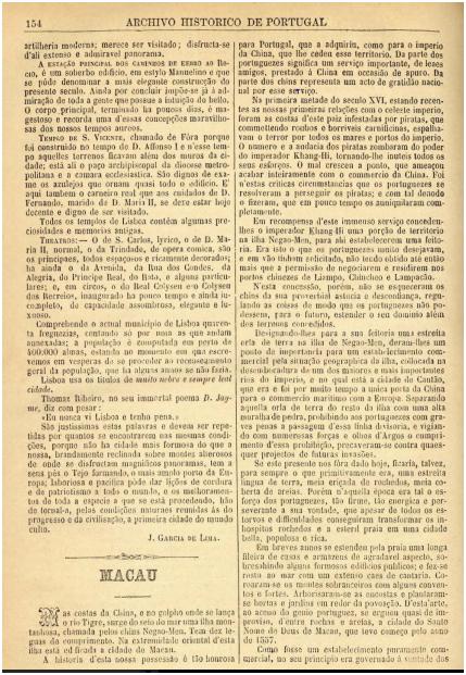 Archivo Historico de Portugal n.º 39-1890 MACAU p.154