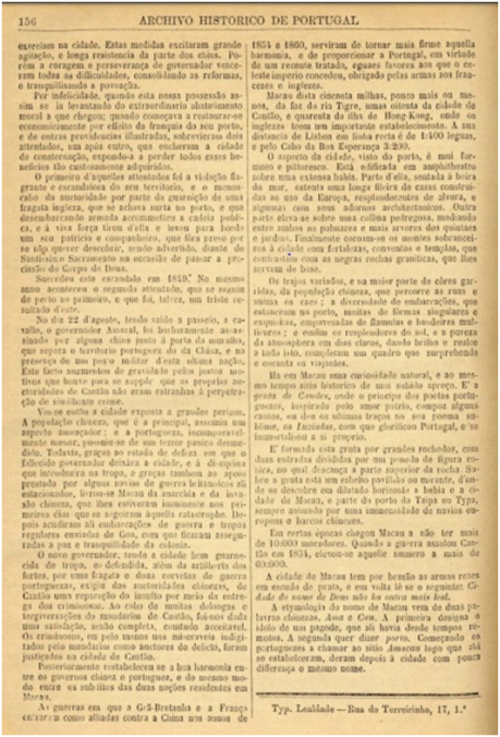 Archivo Historico de Portugal n.º 39-1890 MACAU p.156