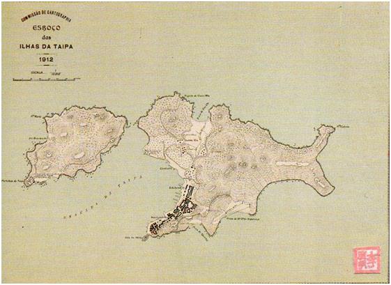 Esboço das Ilhas da Taipa 1912