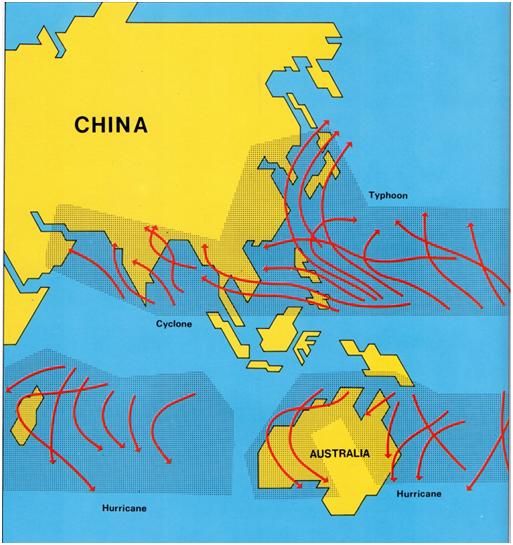 MACAU E OS TUFÕES - página 6 - Trajectórias dos tufões