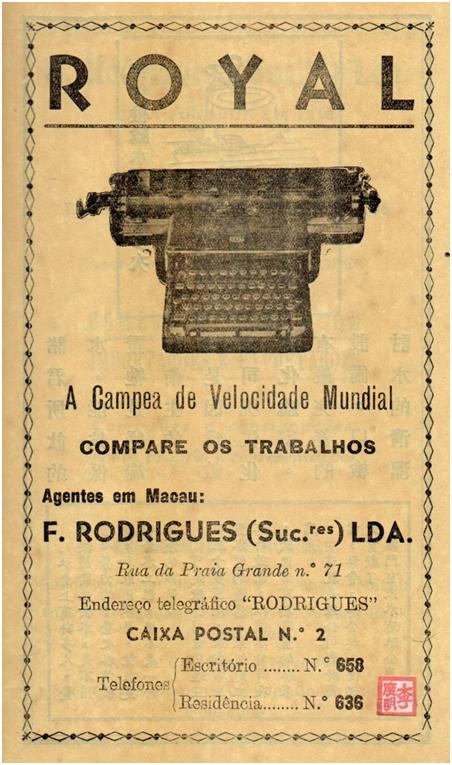 anuncio-de-1950-f-rodrigues-maquina-de-escrever-royal