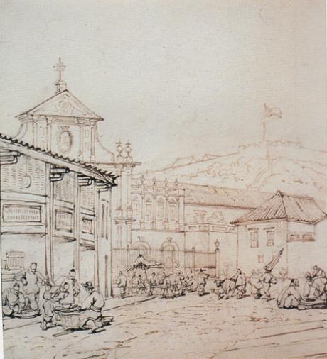 chinnery-igreja-convento-e-praca-de-s-domingos-c-1835-1838
