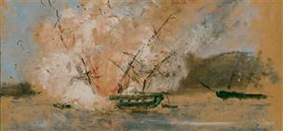 explosao-da-fragata-d-maria-ii-em-1850-i