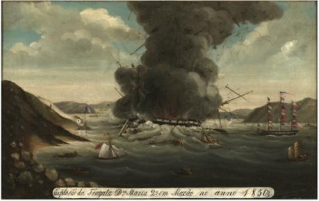 explosao-da-fragata-d-maria-ii-em-1850-ii