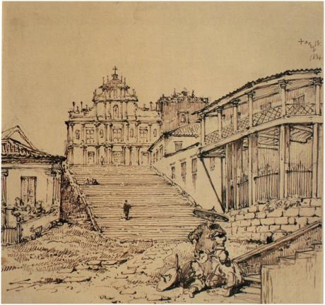 chinnery-igreja-de-s-paulo-antes-do-incendio-1834